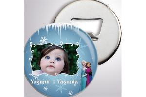 Kişiye Özel Frozen Temalı Açacaklı Buzdolabı Magnet (10 Adet)