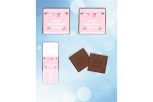Kişiye Özel Baby Shower Kız Temalı Madlen Çikolata (30 Adet)